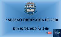 1ª SESSÃO ORDINÁRIA DE 2020