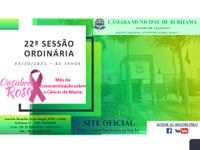 22ª SESSÃO ORDINÁRIA - 04/10/2021 - 19H00