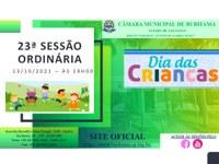 23ª SESSÃO ORDINÁRIA - 19HRS - 13/10/2021