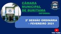 2º SESSÃO ORDINÁRIA - 08/02/2021