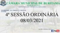 4ª SESSÃO ORDINÁRIA (01-03-2021)