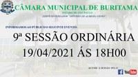 9ª SESSÃO ORDINÁRIA - 19/04/2021