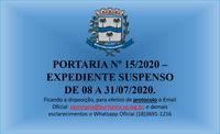 PORTARIA Nº 15/2020
